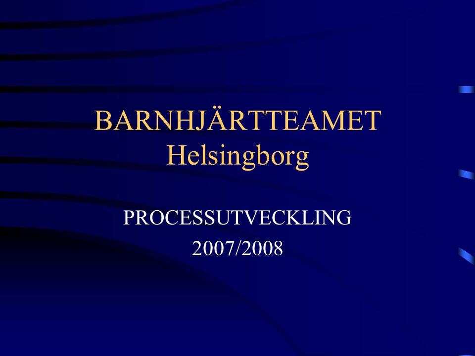 BARNHJÄRTTEAMET Helsingborg PROCESSUTVECKLING 2007/2008