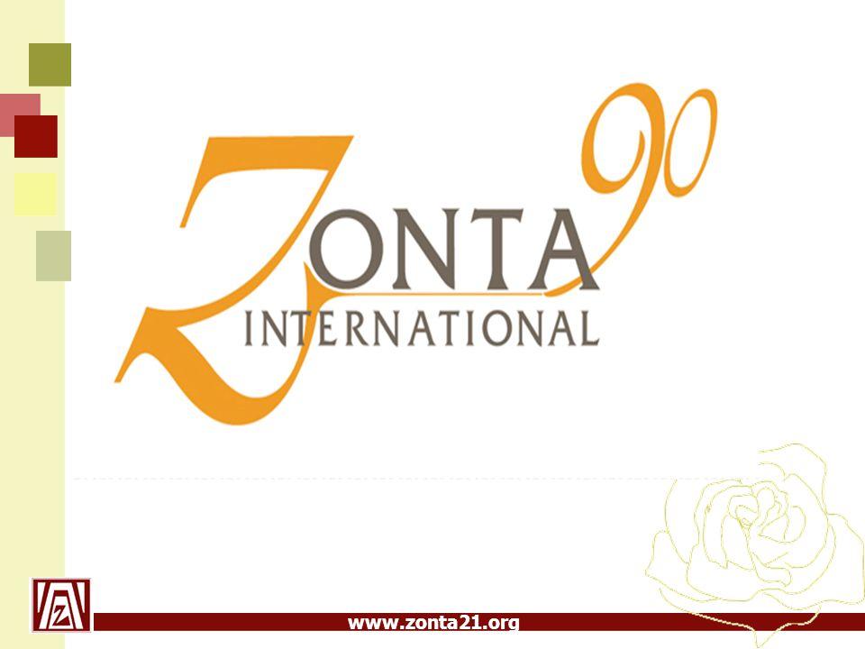 www.zonta21.org Mänskliga rättigheter När Zonta växte beslutades inriktningen byta till hjälpverksamhet runt om i världen.
