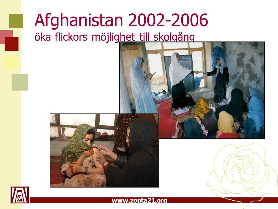 www.zonta21.org Afghanistan 2002-2006 öka flickors möjlighet till skolgång