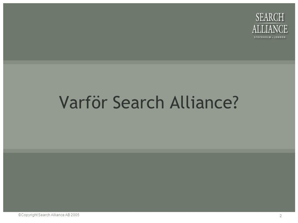 2 Varför Search Alliance