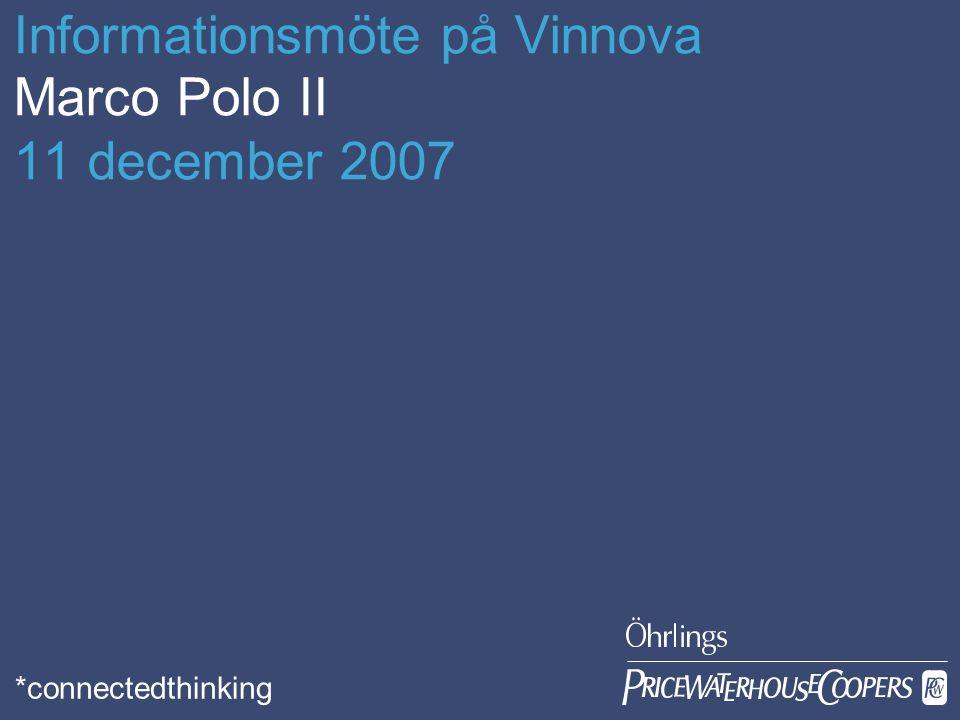 Öhrlings PricewaterhouseCoopers Date Page 2 Introduktion Syftet är att överföra gods från väg till andra trafikslag Varar under perioden 2007-2013 Budget 400 miljoner Euro (2004 års prisnivå) 57 miljoner € har reserverats för 2008 års utlysning, ev.