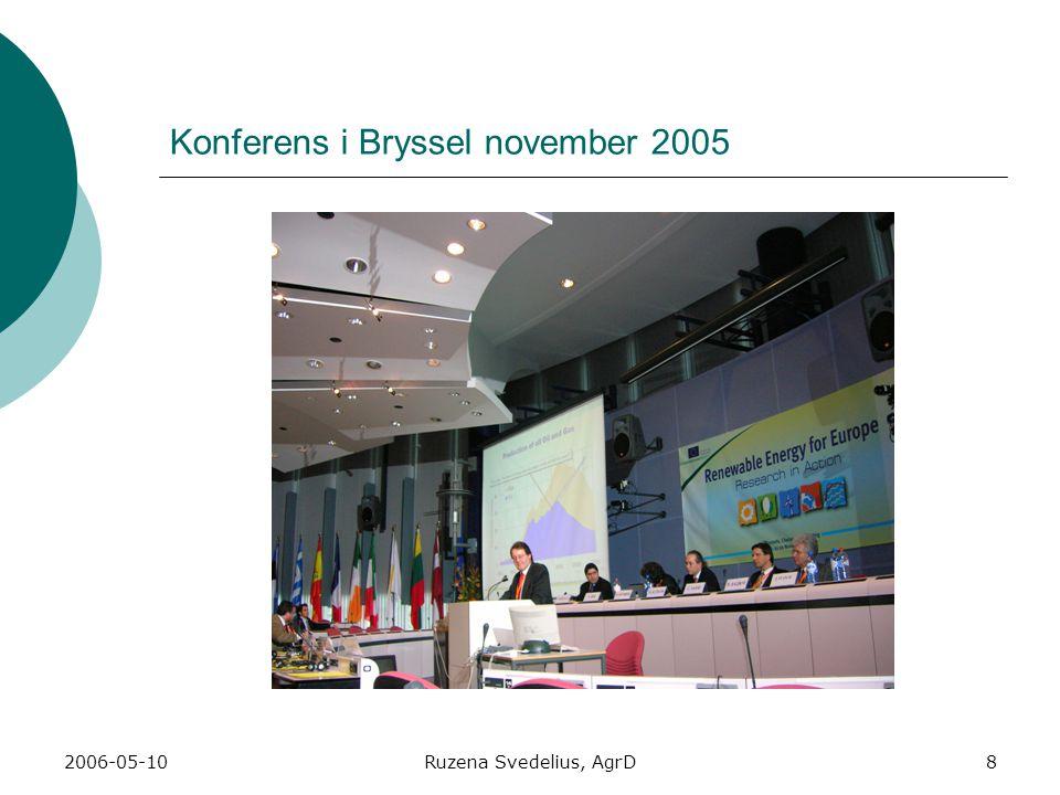 2006-05-10Ruzena Svedelius, AgrD8 Konferens i Bryssel november 2005