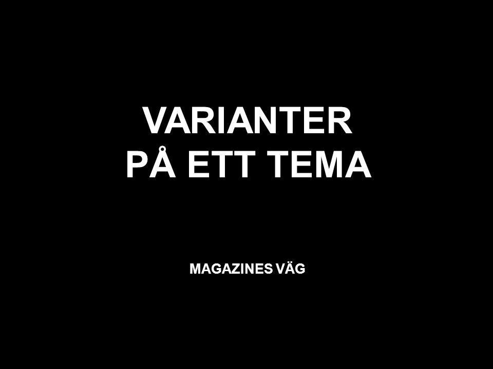 svart VARIANTER PÅ ETT TEMA MAGAZINES VÄG
