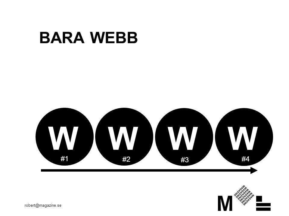 robert@magazine.se BARA WEBB W W W W #1 #2 #3 #4