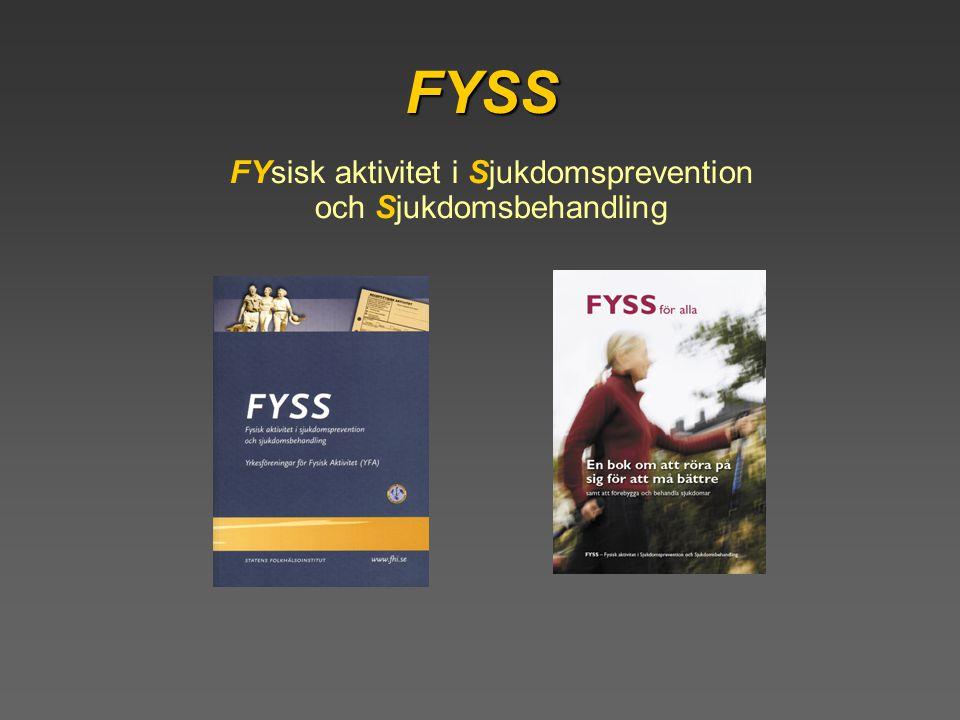 FYsisk aktivitet i Sjukdomsprevention och Sjukdomsbehandling FYSS