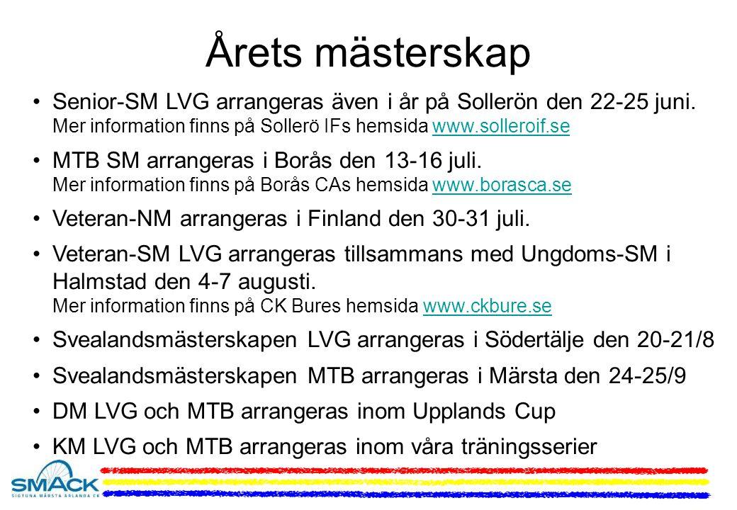Årets mästerskap Senior-SM LVG arrangeras även i år på Sollerön den 22-25 juni.