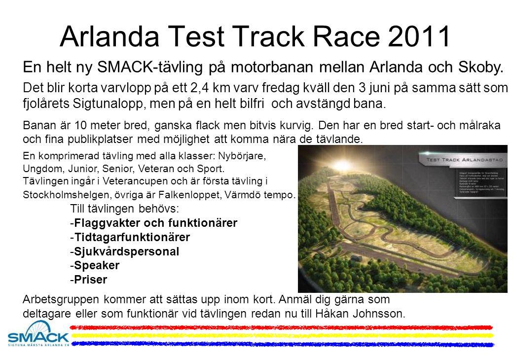 Arlanda Test Track Race 2011 En helt ny SMACK-tävling på motorbanan mellan Arlanda och Skoby.