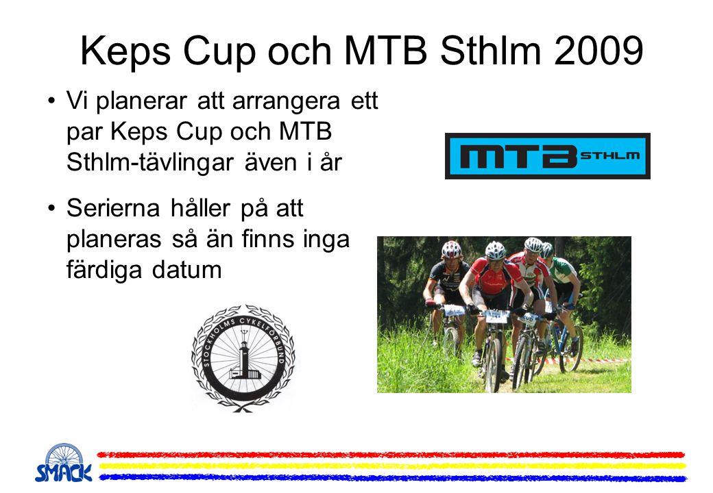 Keps Cup och MTB Sthlm 2009 Vi planerar att arrangera ett par Keps Cup och MTB Sthlm-tävlingar även i år Serierna håller på att planeras så än finns i