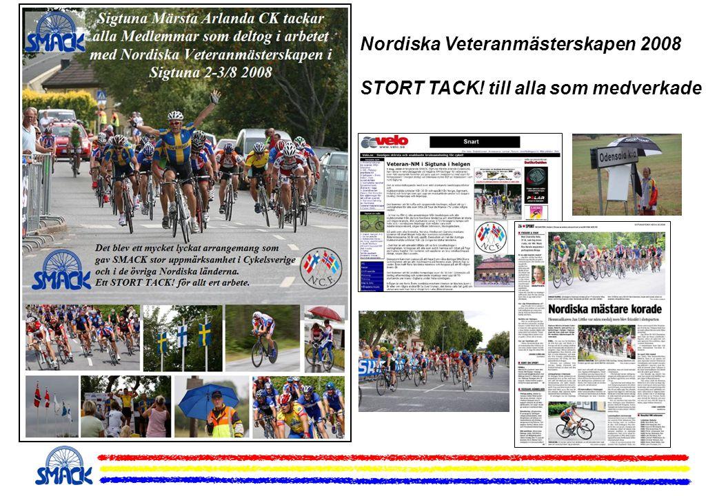 Nordiska Veteranmästerskapen 2008 STORT TACK! till alla som medverkade