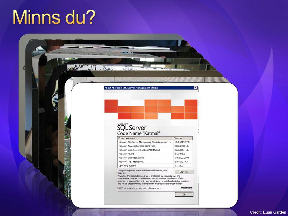 SQL Server™ 2005 User-Defined Types (UDTs) hanterade 8K Räckte för många objekt men vissa tex spatiala objekt blev för stora SQL Server 2008 UDTs kan vara lika stora som de inbyggda – konceptuellt identisk med varbinary(max) Storleken på en UDT definieras av datatypen Konverteras till varbinary(max) eller image för äldre klienter