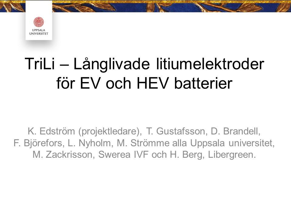 TriLi – Långlivade litiumelektroder för EV och HEV batterier K.