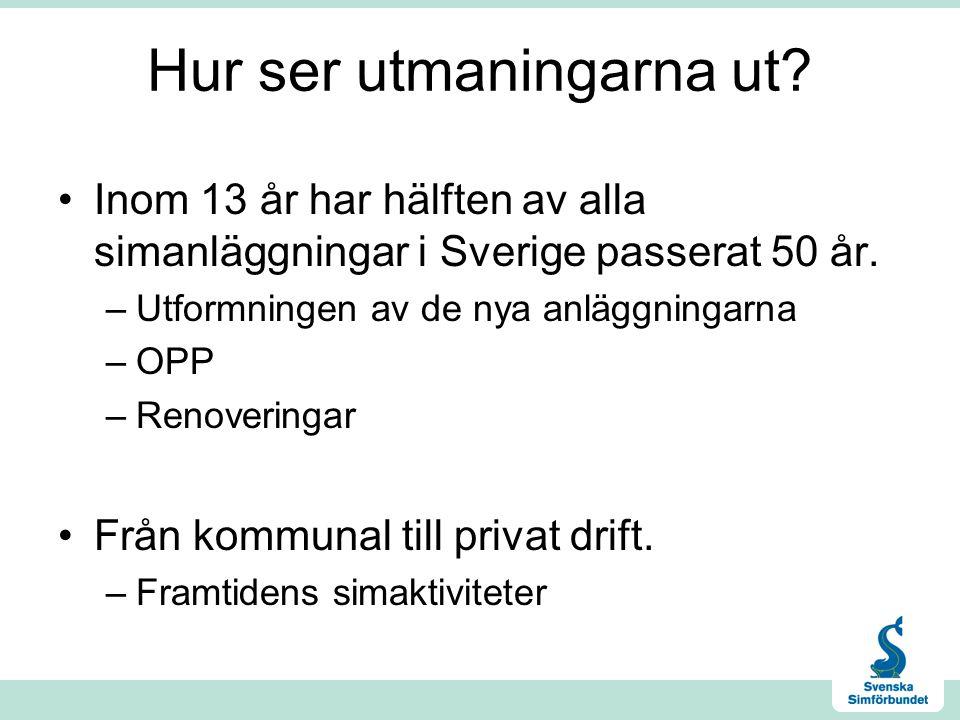 Hur ser utmaningarna ut. Inom 13 år har hälften av alla simanläggningar i Sverige passerat 50 år.