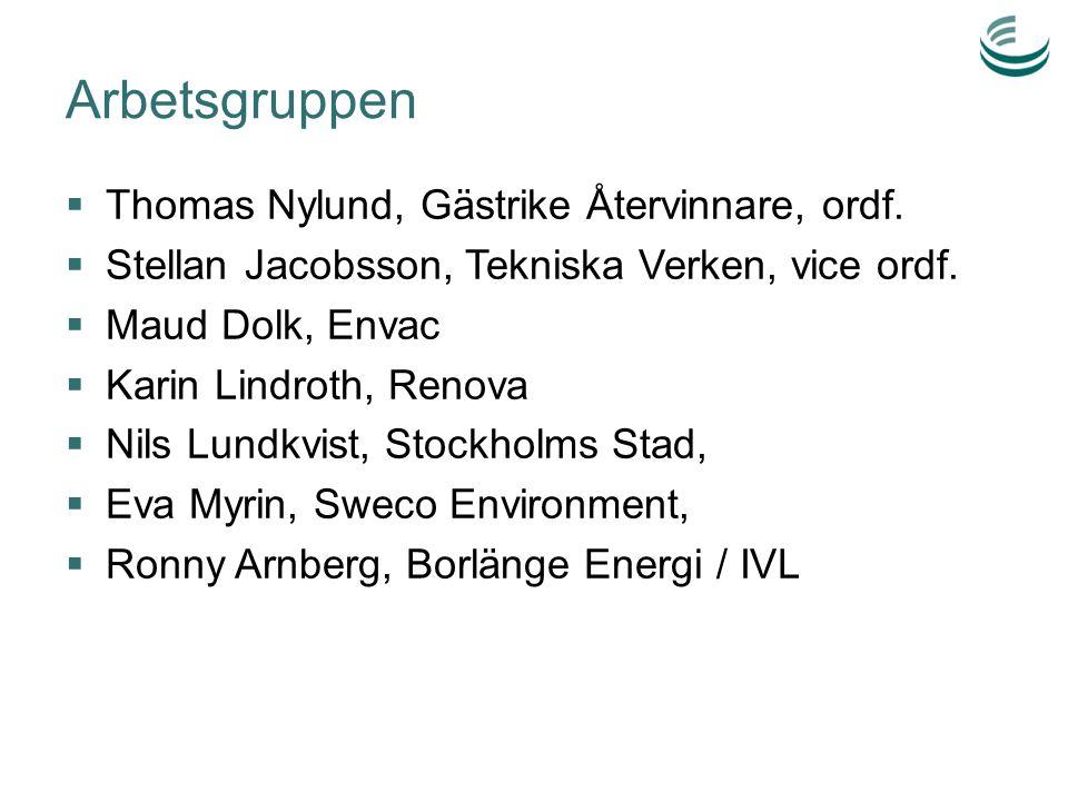 Projektmål 31 okt 2014  Etablerat verksamhet som på fullt kommersiella villkor kan erbjuda svensk miljöteknik inom avfall & energi på utvalda internationella marknader – Visat på metoder för en hållbar säljmetodik – Arbetssätt för kompetensrekrytering – Förslag på databas för individuell och företagsmässig kompetens samt uppdragstillgänglighet för individer  Påbörjat minst tre kommersiella kundprojekt och medverkat i minst tre offentliga upphandlingar