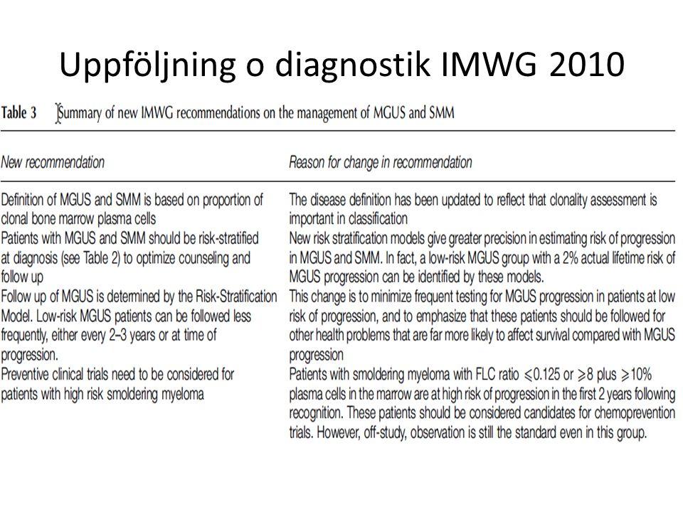 Uppföljning o diagnostik IMWG 2010