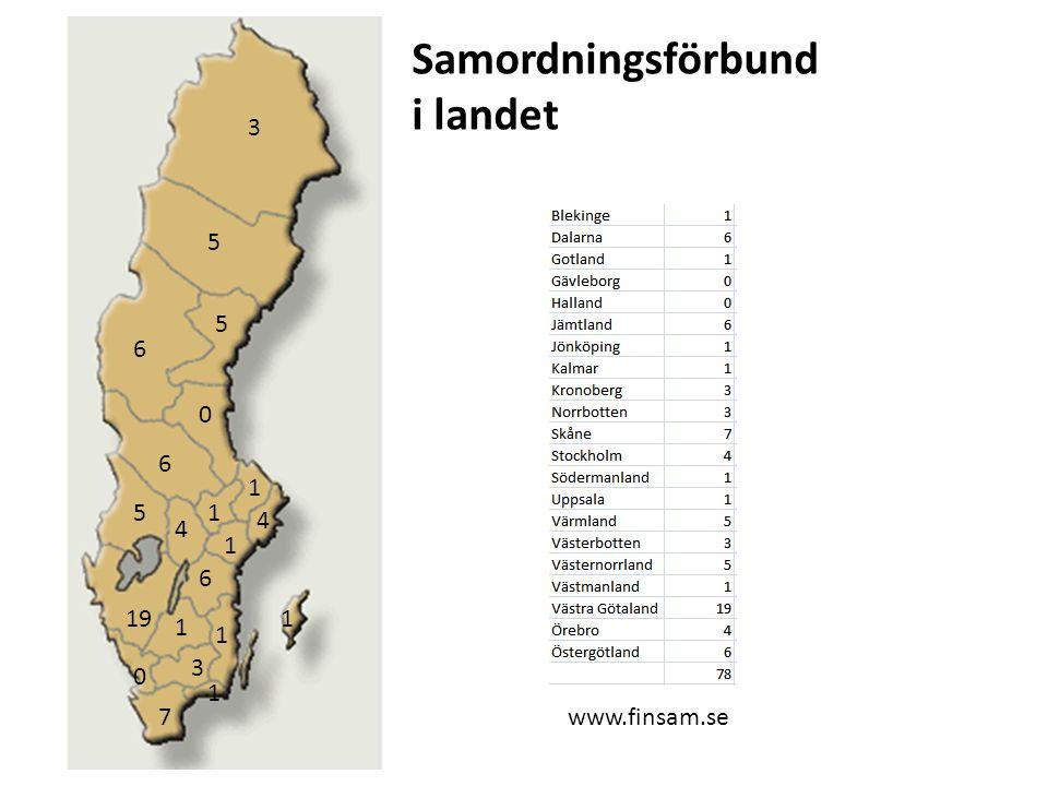 3 5 6 5 0 6 5 4 1 1 4 1 6 1 1 1 7 3 0 19 1 Samordningsförbund i landet www.finsam.se