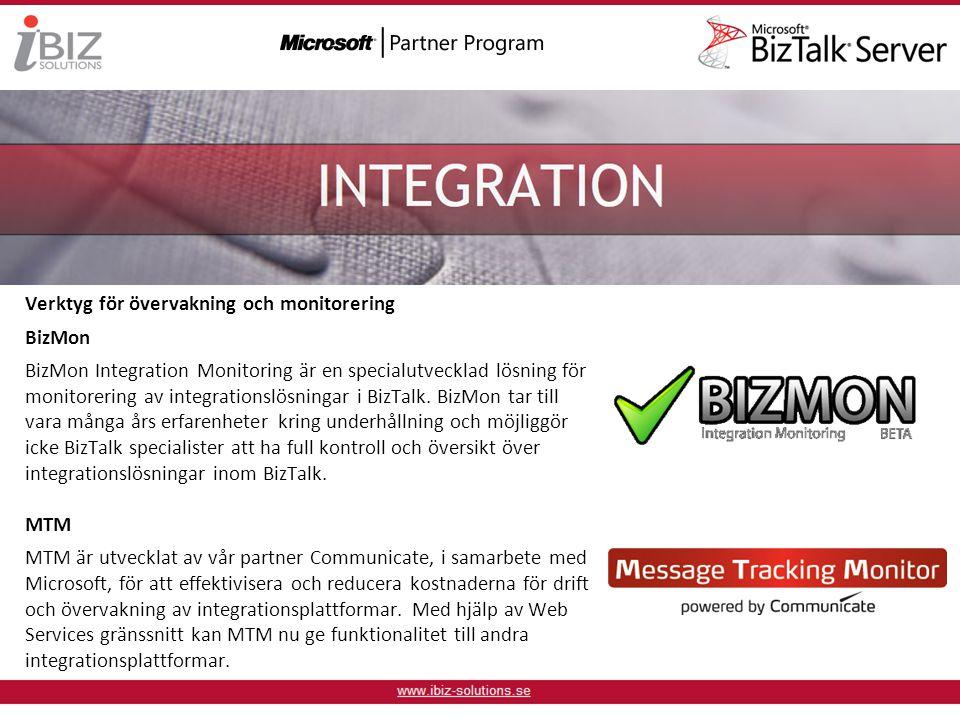 Verktyg för övervakning och monitorering BizMon BizMon Integration Monitoring är en specialutvecklad lösning för monitorering av integrationslösningar