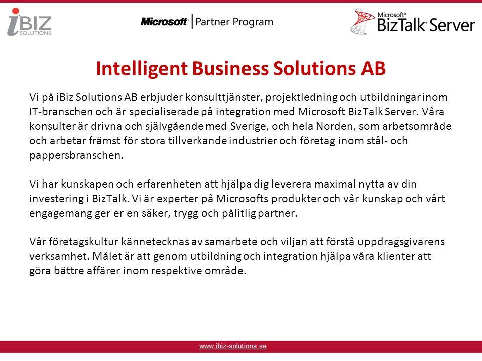 Vi på iBiz Solutions AB erbjuder konsulttjänster, projektledning och utbildningar inom IT-branschen och är specialiserade på integration med Microsoft