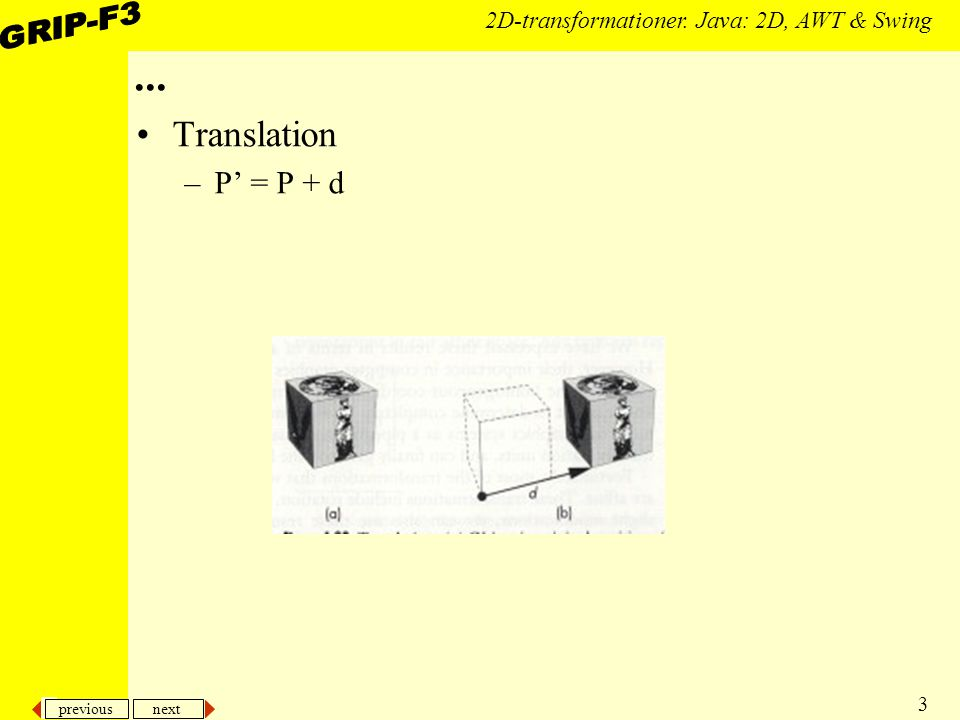 previous next 24 2D-transformationer.Java: 2D, AWT & Swing...