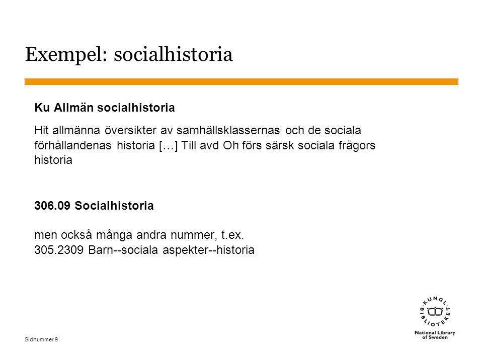 Sidnummer 9 Exempel: socialhistoria Ku Allmän socialhistoria Hit allmänna översikter av samhällsklassernas och de sociala förhållandenas historia […]