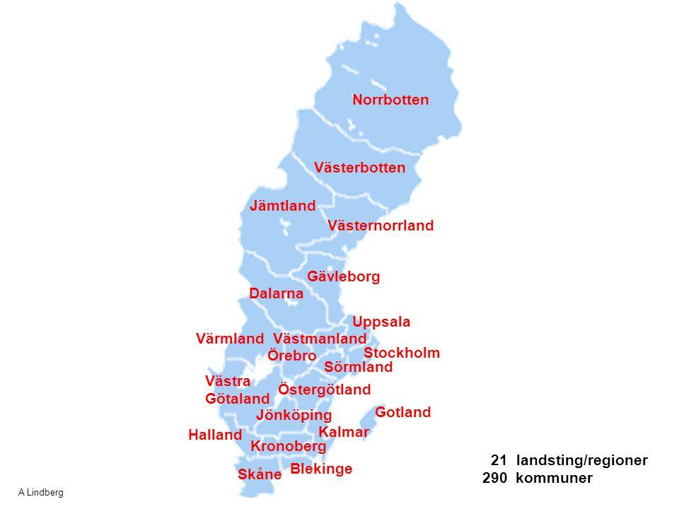 Norrbotten Västerbotten Västernorrland Jämtland Gävleborg Dalarna Uppsala Västmanland Stockholm Värmland Örebro Sörmland Västra Götaland Halland Öster