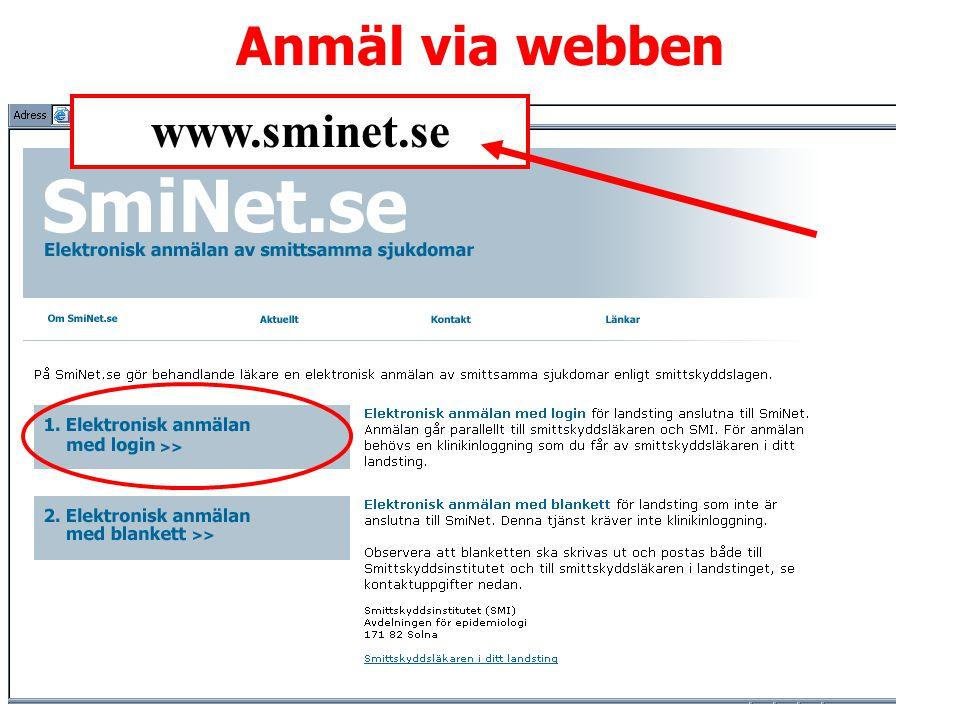 A Lindberg Anmäl via webben www.sminet.se