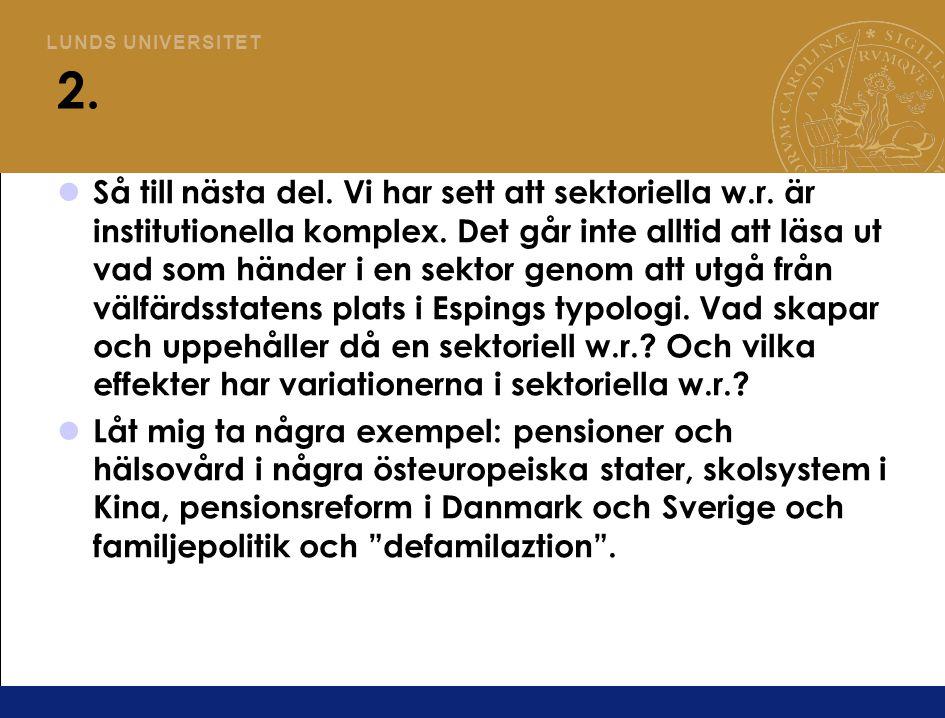 L U N D S U N I V E R S I T E T Polen, Tjeckien, Ungern och Slovenien skaffar sig ny socialpolitik Aspalter, Kim och Park (2009) visar hur fyra östeuropeiska länder bygger upp system för pensioner och hälso/sjukvård efter övergången till kapitalism.