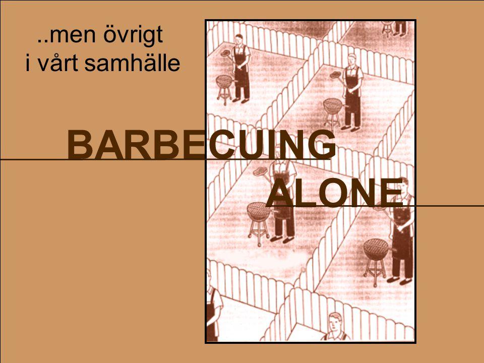 BARBECUING ALONE..men övrigt i vårt samhälle