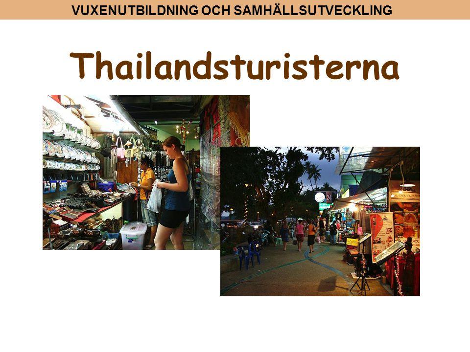 VUXENUTBILDNING OCH SAMHÄLLSUTVECKLING Thailandsturisterna