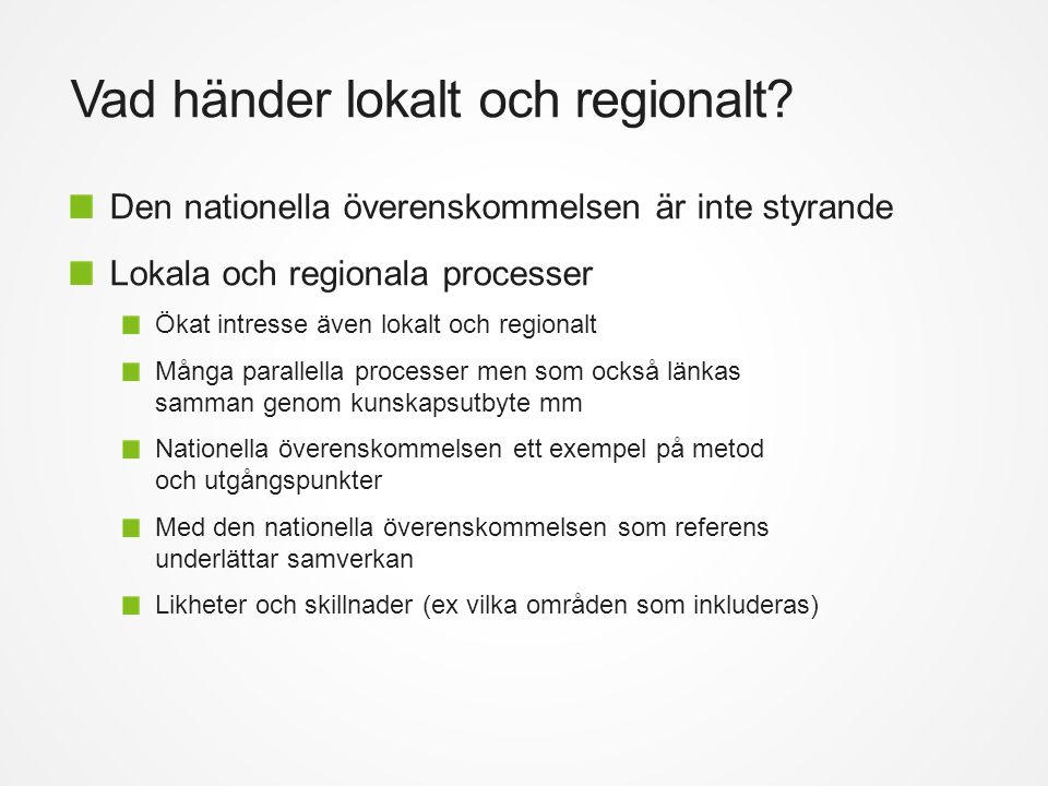 Vad händer lokalt och regionalt.
