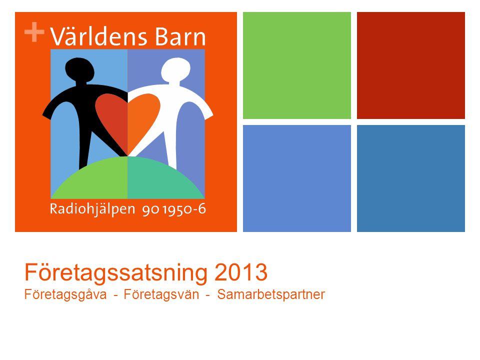 + Företagssatsning 2013 Företagsgåva - Företagsvän - Samarbetspartner