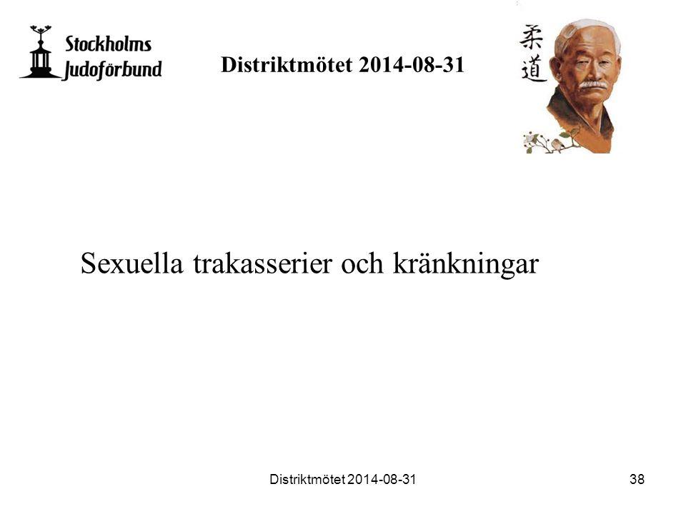 Distriktmötet 2014-08-31 Sexuella trakasserier och kränkningar Distriktmötet 2014-08-3138