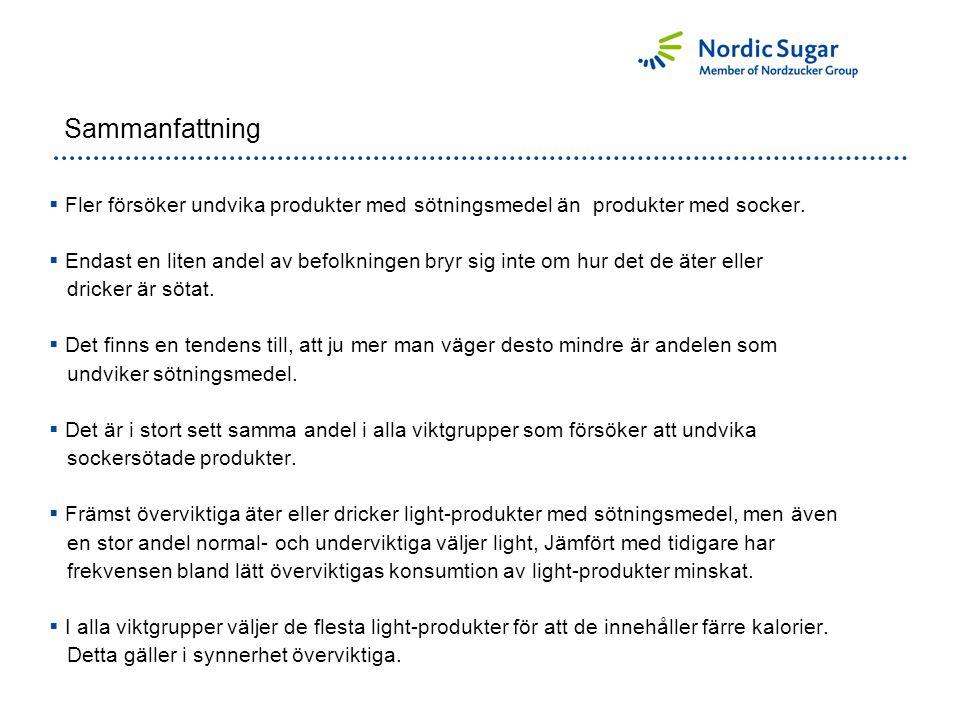 Sammanfattning  Fler försöker undvika produkter med sötningsmedel än produkter med socker.