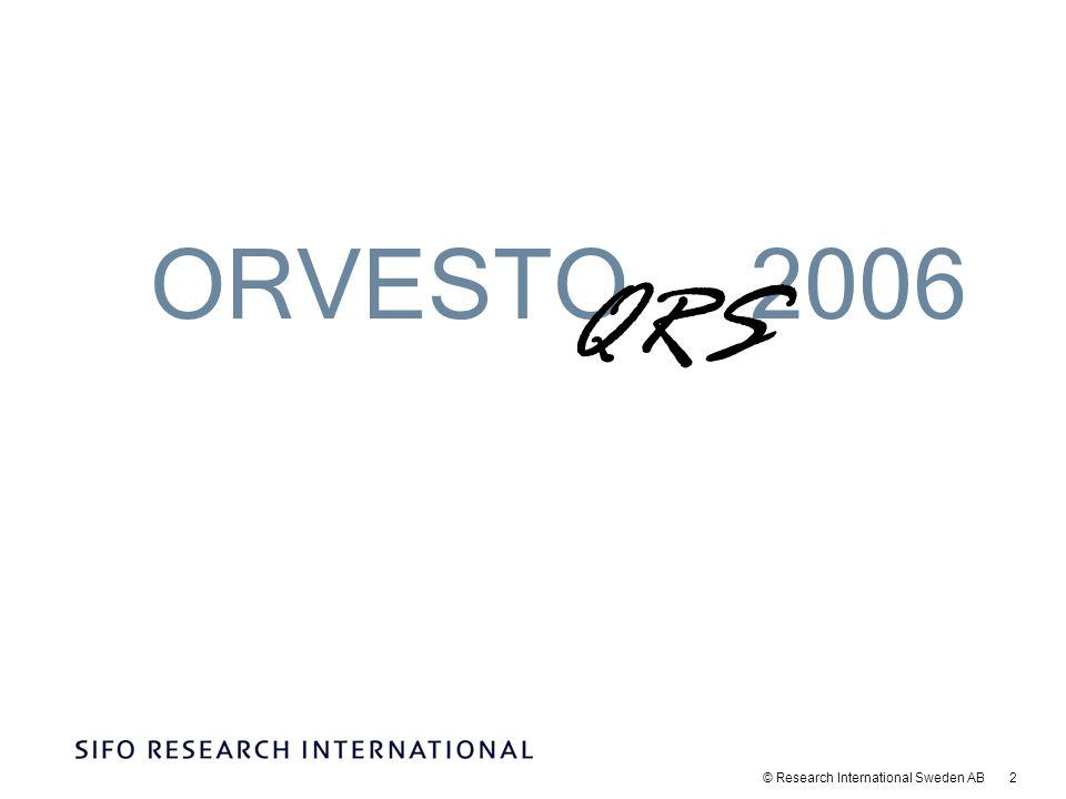 © Research International Sweden AB 3 Genomförande och redovisning Ett urval av intervjupersoner drogs slumpmässigt ur SIFO Research Internationals riksrepresentativa webbpanel.