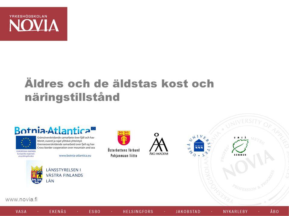www.novia.fi Denna presentation redovisar forskningsresultat som insamlats som under två olika projekt som tidigare SYH nu Yrkeshögskolan Novia deltagit i under 2004-2007 i samarbete med kommuner och högskolor.
