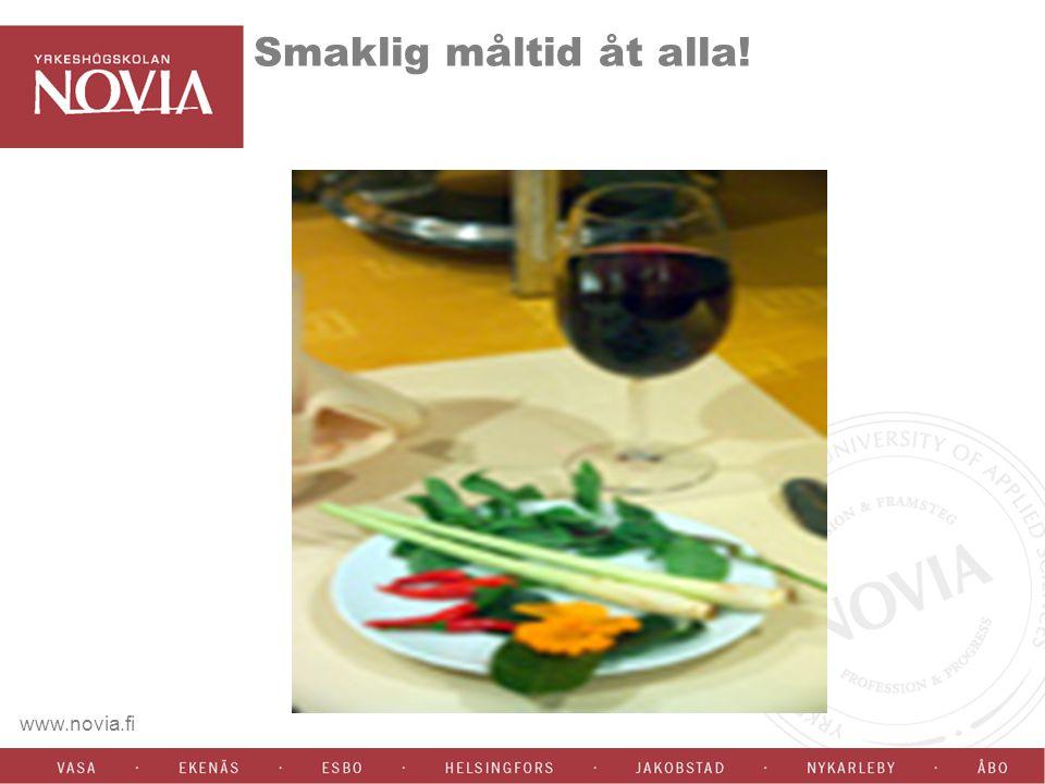 www.novia.fi Smaklig måltid åt alla!
