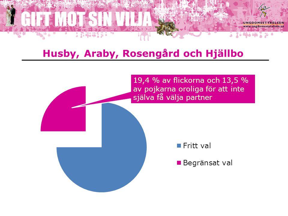 Husby, Araby, Rosengård och Hjällbo