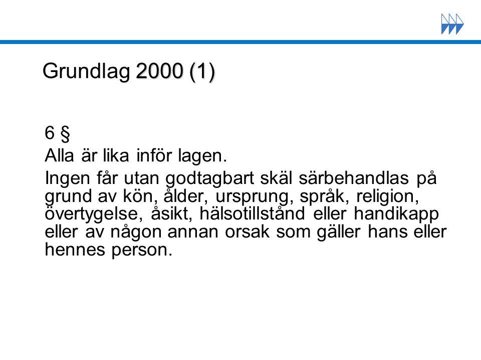 2000 (2) Grundlag 2000 (2) 17 § Finlands nationalspråk är finska och svenska.
