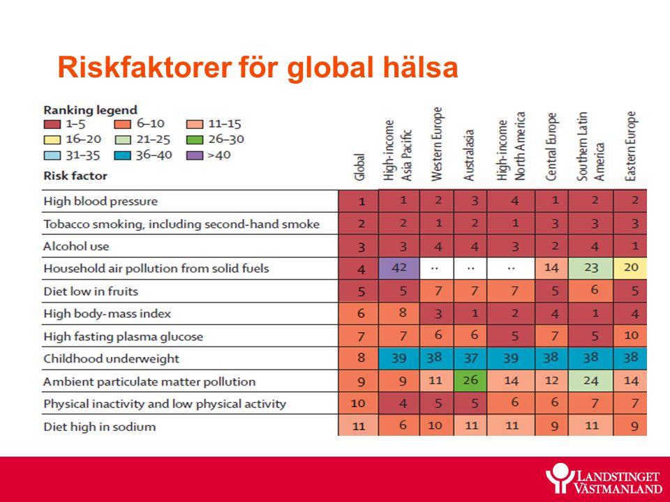 Riskfaktorer för global hälsa