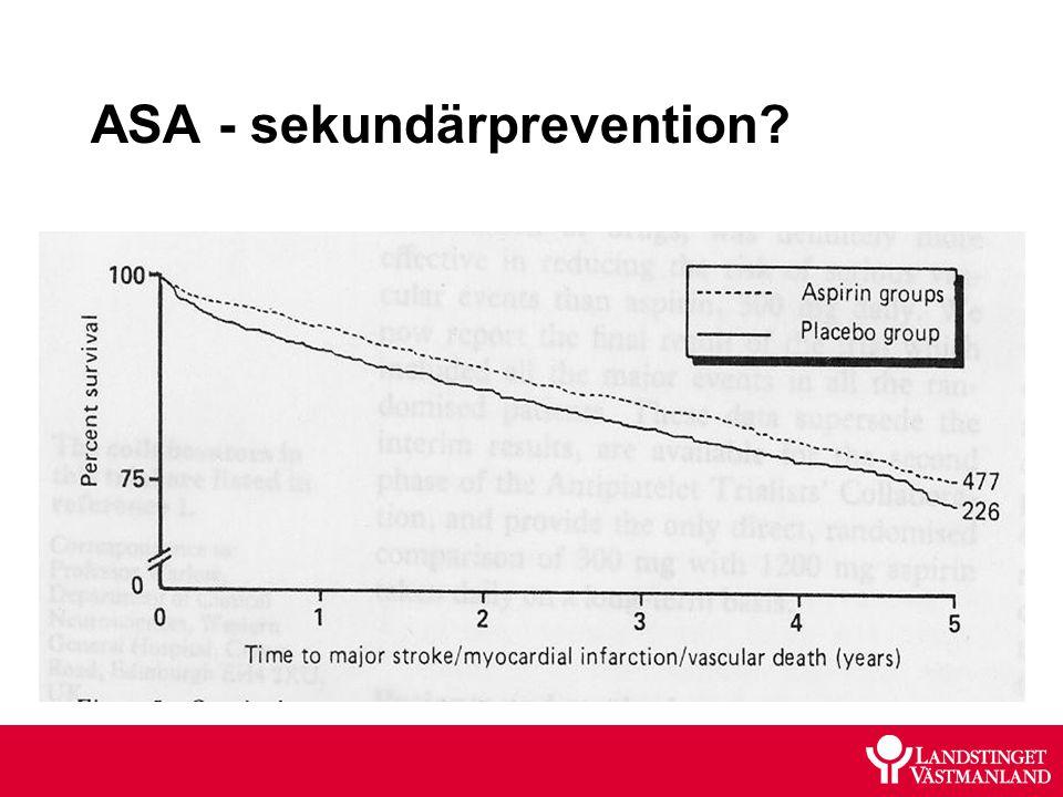 ASA - sekundärprevention?