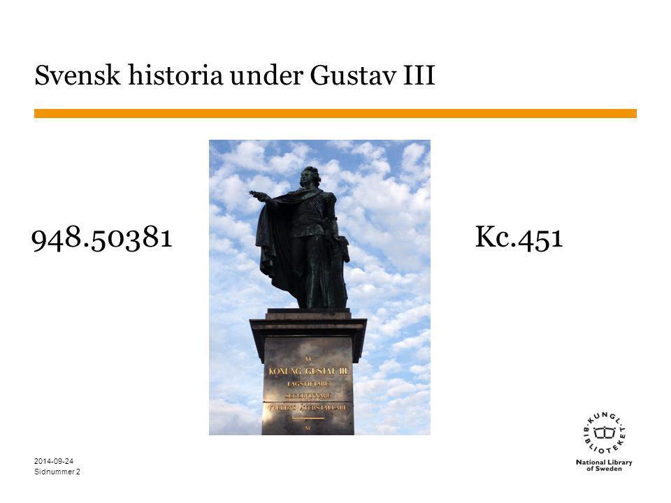 Sidnummer 3 Allmänt DDK bygger på siffror SAB bygger på bokstäver DDK är indelat i 10 huvudklasser, därefter vidareuppdelning.