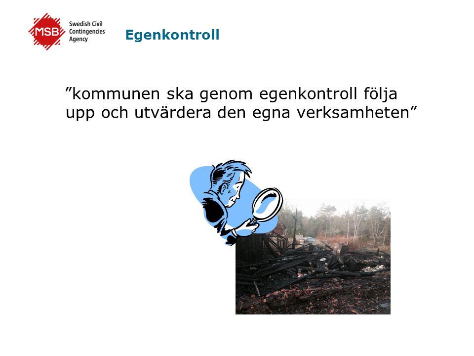 """Egenkontroll """"kommunen ska genom egenkontroll följa upp och utvärdera den egna verksamheten"""""""
