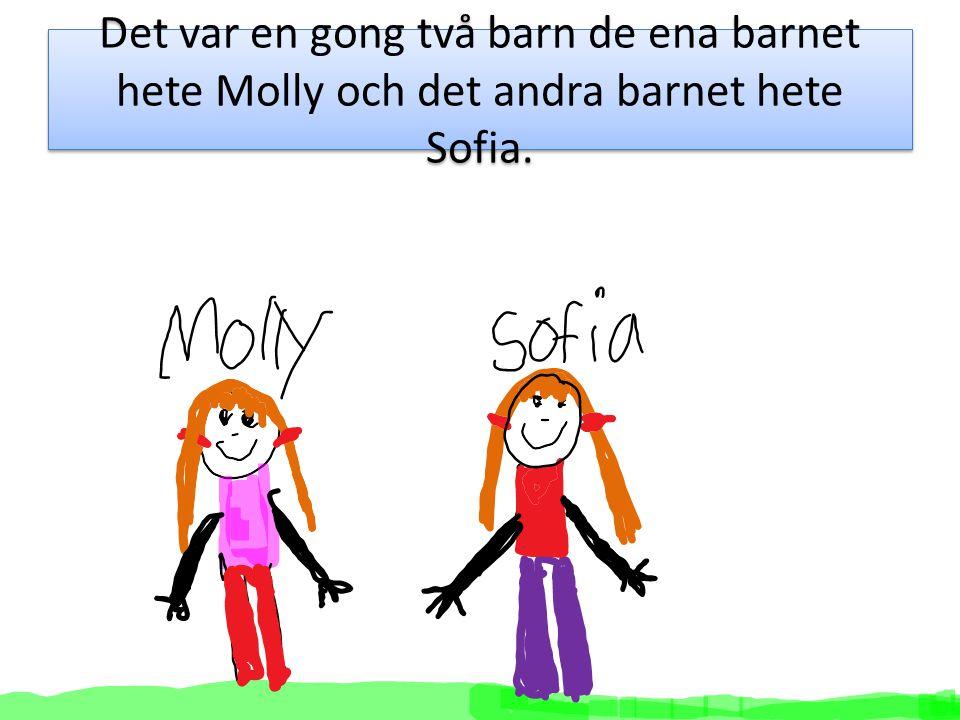 När Molly och Sofia hade goten en cm såg Sofia ett tas av tryk.