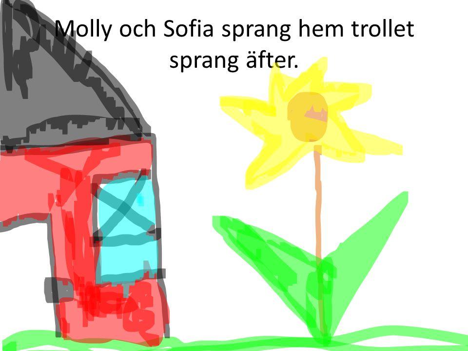 Molly och Sofia sprang hem trollet sprang äfter.