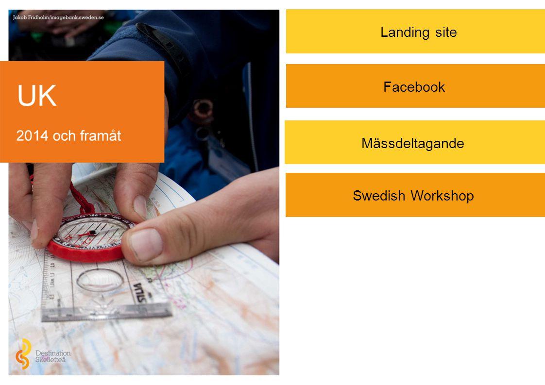 Swedish Workshop Landing site Mässdeltagande Facebook