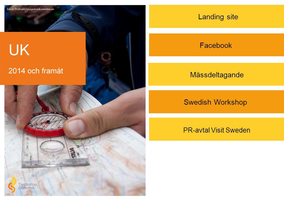 PR-avtal Visit Sweden Landing site Mässdeltagande Facebook Swedish Workshop