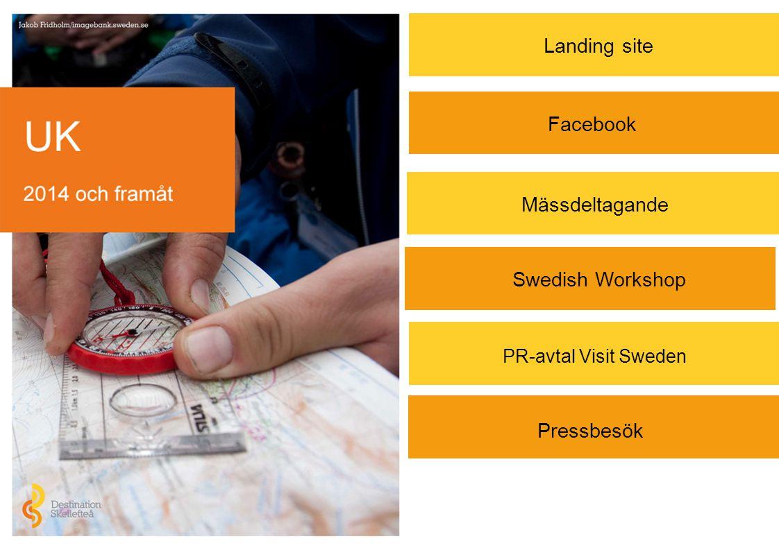 Pressbesök Landing site Mässdeltagande Facebook Swedish Workshop PR-avtal Visit Sweden