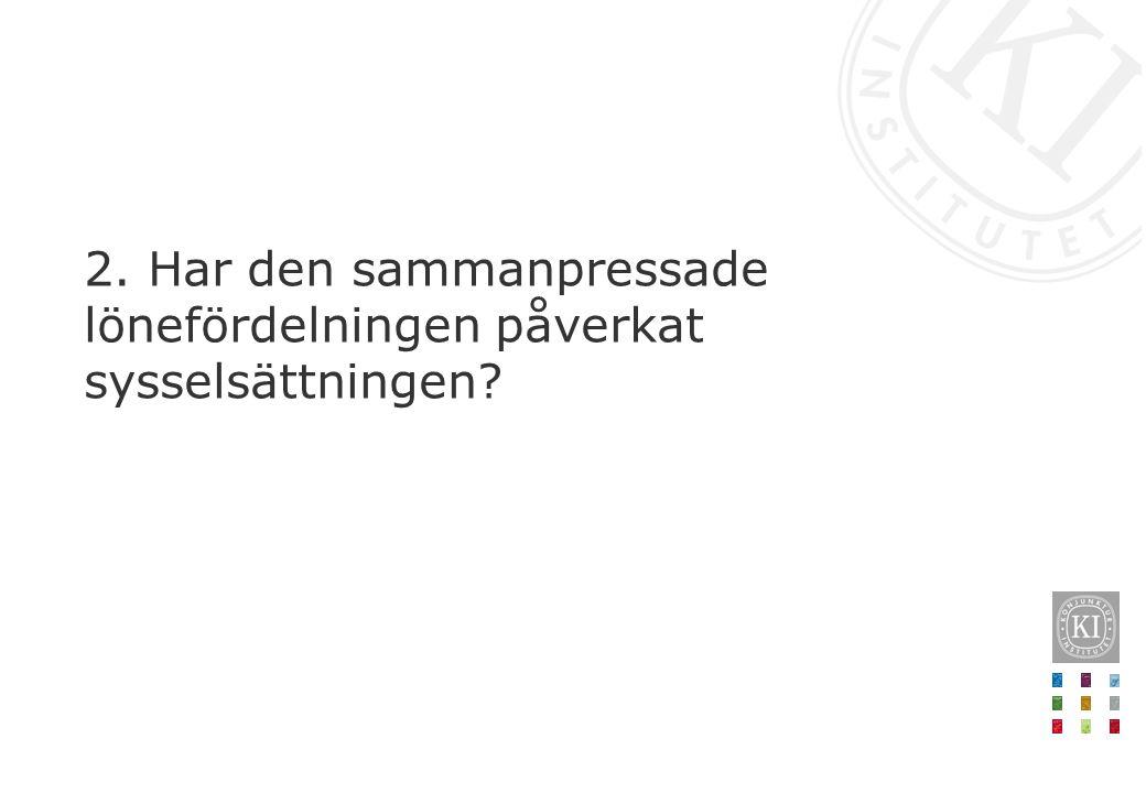 Lönekvot P50/P10Lönekvot P90/P10 Norden Danmark1,72,8 Finland1,52,5 Norge1,62,3 Sverige1,42,2 Övriga Europa Tyskland1,93,3 Frankrike1,53,0 Italien1,52,2 Nederländerna1,62,9 Spanien1,73,3 Storbritannien1,83,6 Tyskland1,93,3 Österrike1,73,4 Tabell 2 Höga löner i förhållande till låga löner i olika länder Anm.