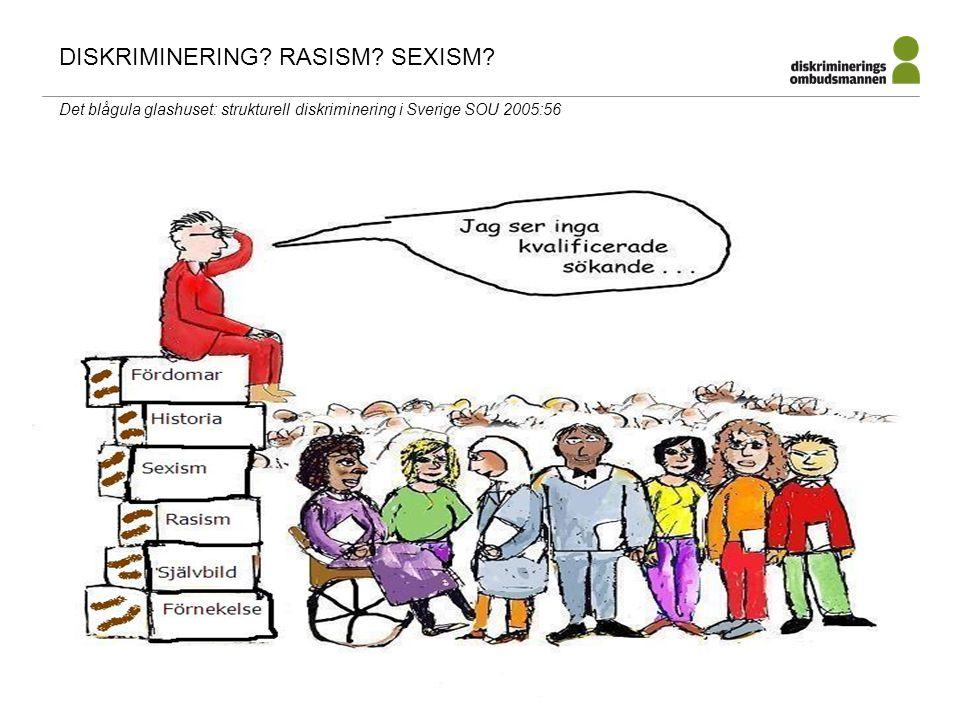 paul.lappalainen@do.se DISKRIMINERING? RASISM? SEXISM? Det blågula glashuset: strukturell diskriminering i Sverige SOU 2005:56
