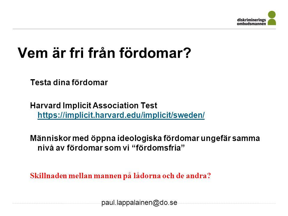 paul.lappalainen@do.se 16 Feelgood åtgärder.