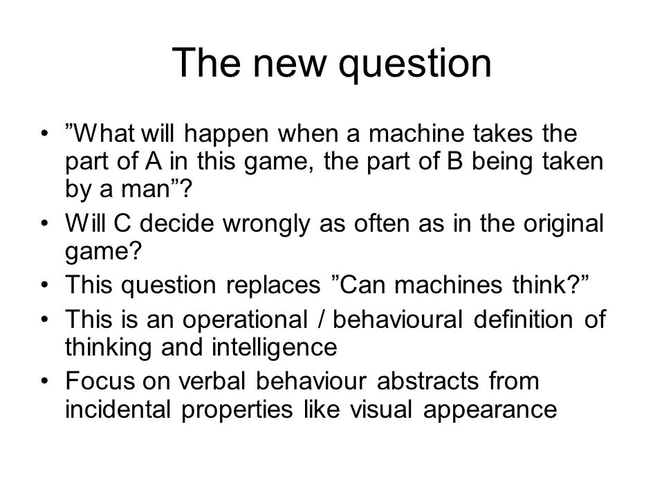 Questions Is passing a TT criterial for intelligence.